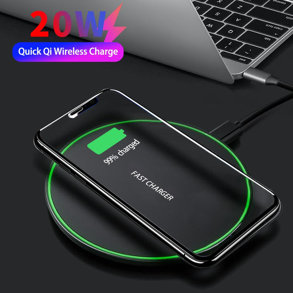 KEPHE 20W Fast Wireless Charger For Samsung Galaxy S10 S9/S9+S20 Note 9 USB Qi Charging Pad for iPhone 11 Pro XS Max XR X 8 Plus