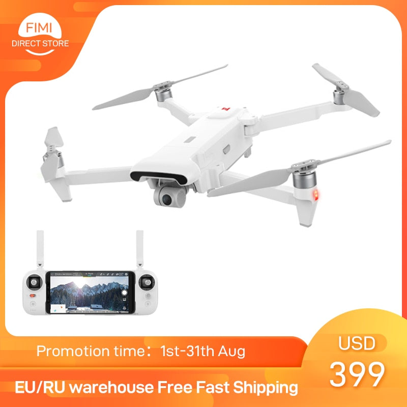 FIMI X8 SE 2020 Camera Drone Set with 64GB/128GB TF card 8km new version x8se Drone 35mins FPV 3-axis Gimbal 4K Camera HDR Video