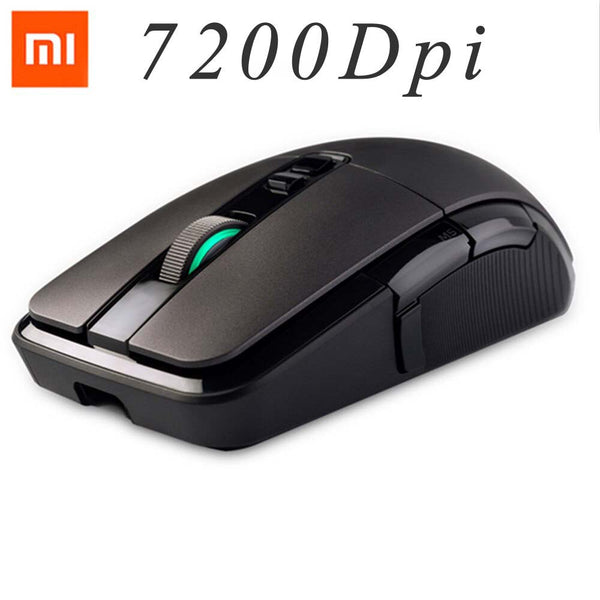 Original Xiaomi Wireless Mouse Gaming 7200DPI RGB Backlight Game Optical Rechargeable 32-bit ARM USB 2.4GHz Computer Mouse (Black)