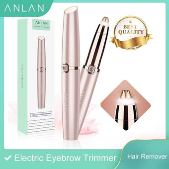 ANLAN Electric Eyebrow Trimmer Makeup Painless Eye Brow Depilatory Mini Shaver Razors Facial Ha...