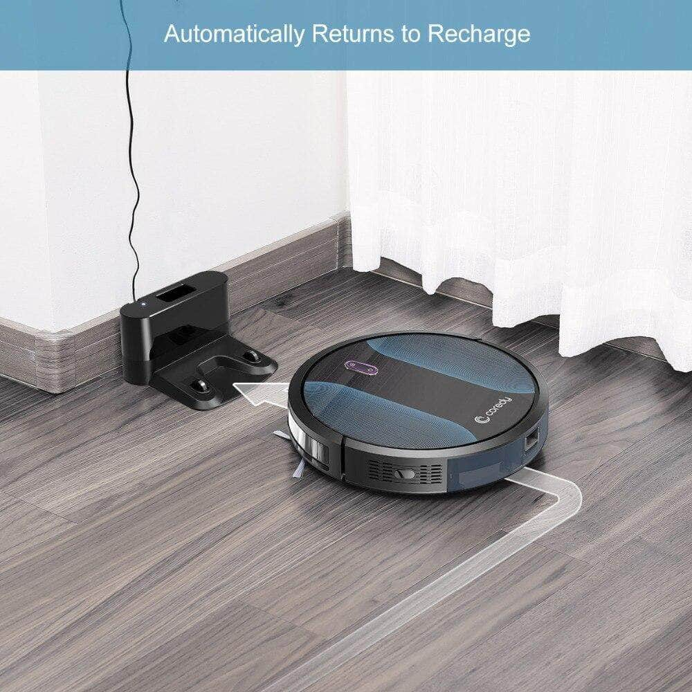 Coredy R500+ Smart  Robot Vacuum Cleaner Wet Dust Water Tank Mop Carpet Hair Cleaning Sweeping ... Mybigfatstore