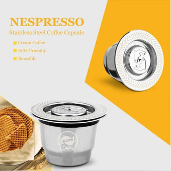 iCafilas Vip Link For Nespresso Reutilisable Refillable Capsule Crema Espresso Reusable New Ref...