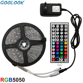 LED Strip Light RGB 5050 SMD 2835 Flexible Ribbon fita led light strip RGB 5M 10M 15M Tape Diod...