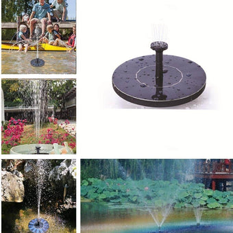 Mini Solar Power Water Fountain Garden Pool Pond 30-45cm Outdoor Solar Panel Bird Bath Floating...
