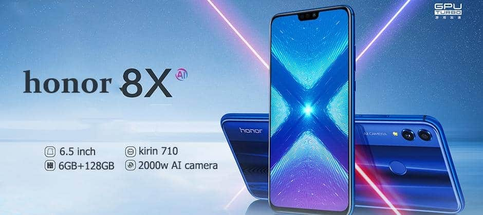 Stock!Global Rom Honor 8X Mobile Phone 6.5 inch  20MP Back Camera  Octa Core Kirin 710 Android ... Mybigfatstore