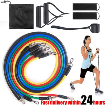 VIP Drop Shipping 11pcs Pull Rope Fitness Exercises Resistance Bands Set Training Yoga Band Gym...