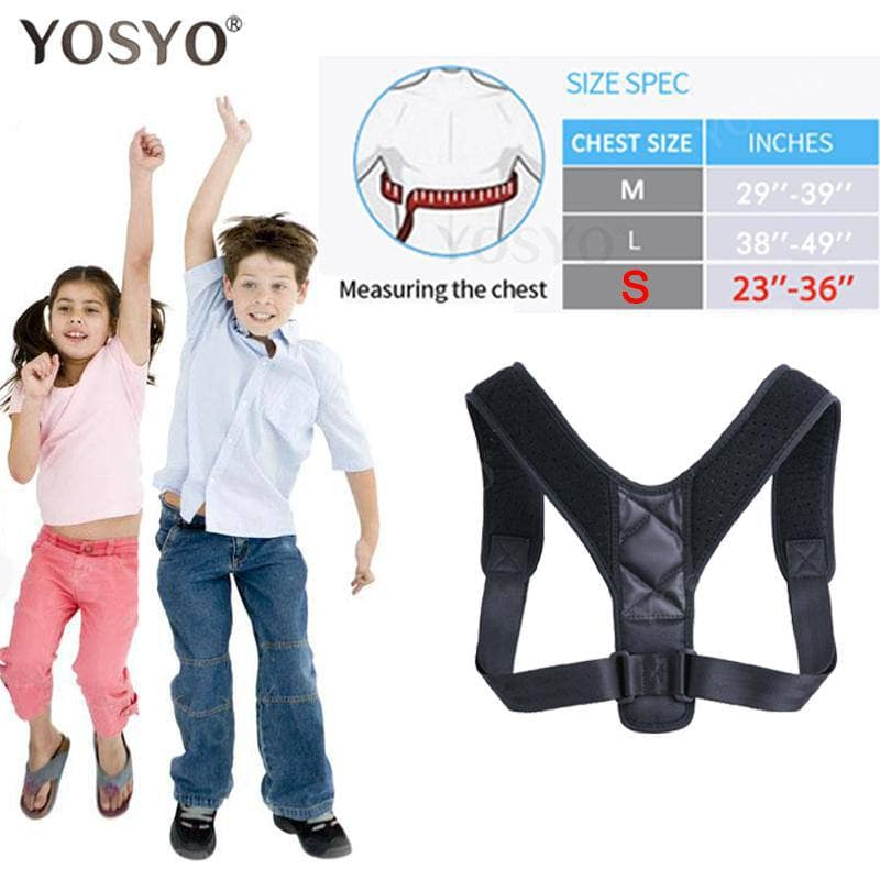 YOSYO Brace Support Belt Adjustable Back Posture Corrector Clavicle Spine Back Shoulder Lumbar ... Mybigfatstore