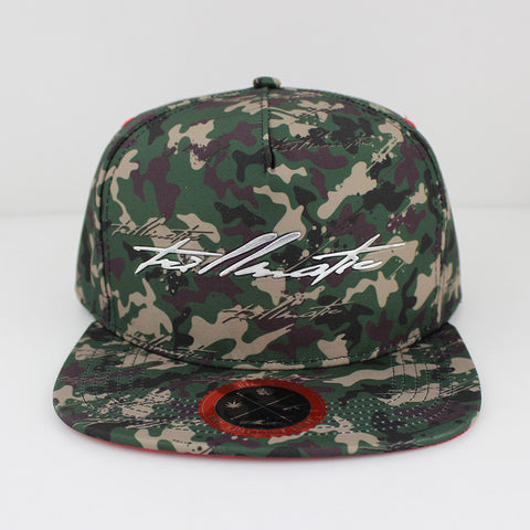 """Trillmatic Camo"" w/ Suede and Chrome Snapback Hat"