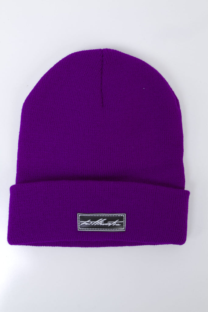 Beanie with Leather Label