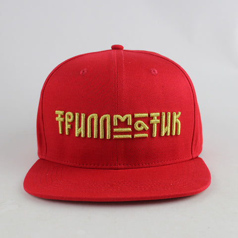 """Russian Gold"" Red w/ Suede Snapback Hat"