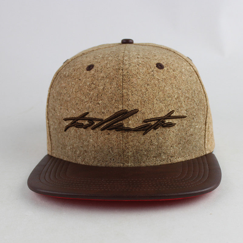 """Poppin' Bottles"" Cork/Leather/Satin Strapback Hat"