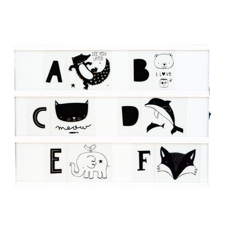 Set ABC animaux Lightbox A Little Lovely Company