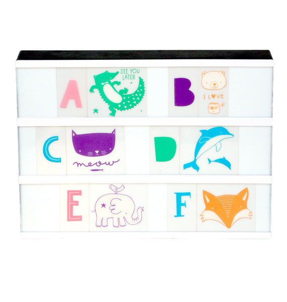 Set ABC Animaux Pastel + Lightbox A4