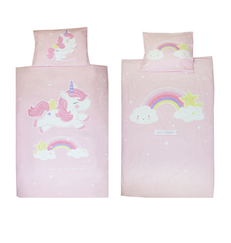 Housse de couette Licorne A Little Lovely Company Unicor bedcover Les mini tornades kidstore