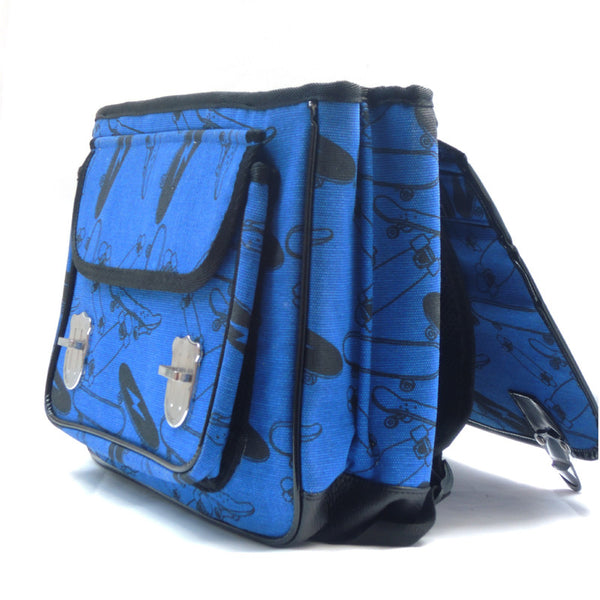 Cartable skate bleu