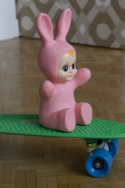 Veilleuse Bunny Baby rose vintage