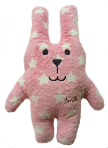 Peluche Doudou Craftolic Lapin Rose étoiles blanches
