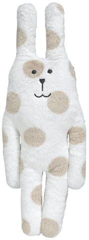 Peluche Lapin Pois Beige
