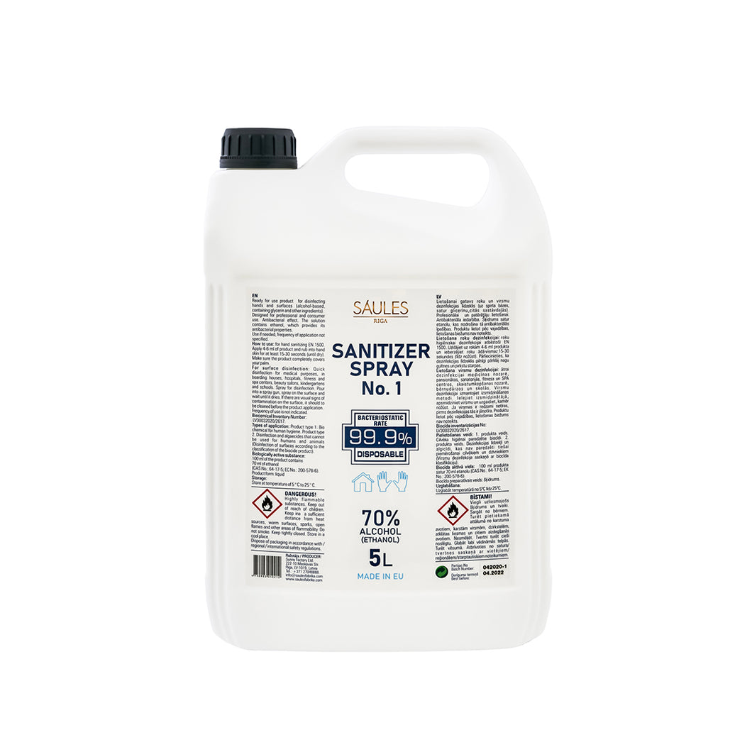 Sanitizer Spray No.1 (5L)