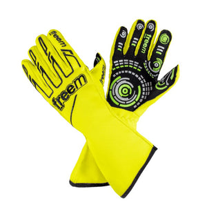 Senso Gloves Motorsport gloves Freem Fluorescent Yellow 7