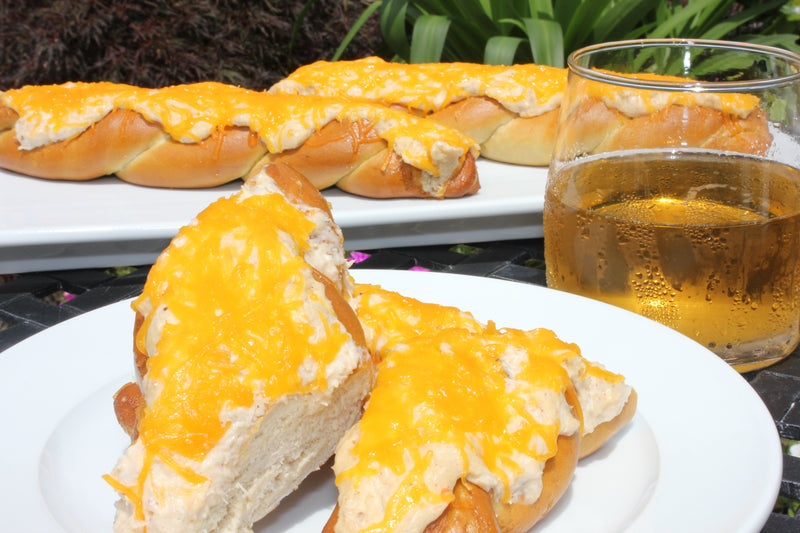 Crab Topped Pretzels