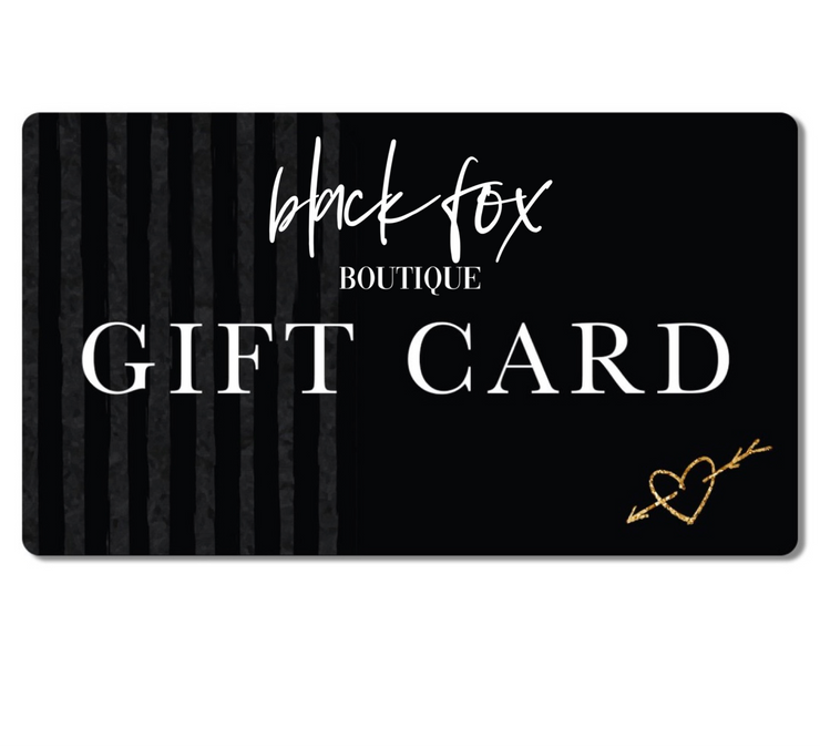 BLACK FOX GIFT CARDS