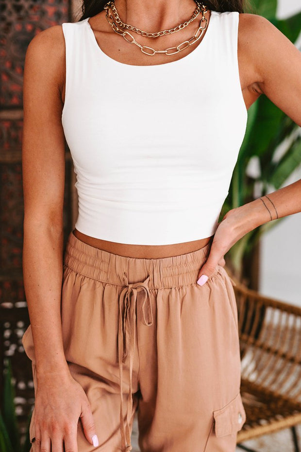 RACH CROPPED TANK TOP (IVORY)