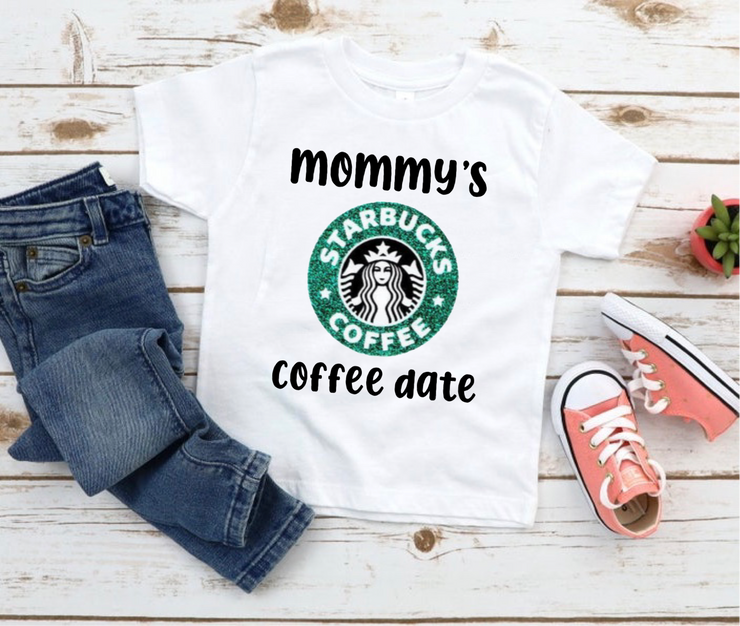 Mommy's coffee date graphic tee (TODDLER SIZE)