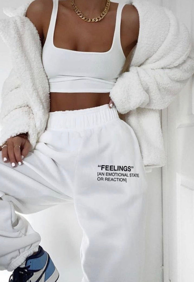 """Feelings"" sweatpants"