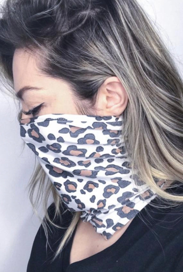 Leopard Neck Gaiter Face Mask