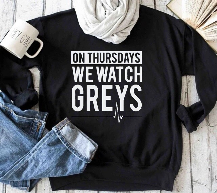 On Thursdays We Watch Greys (Black)