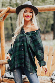 Lone Wolf Oversized Plaid Top