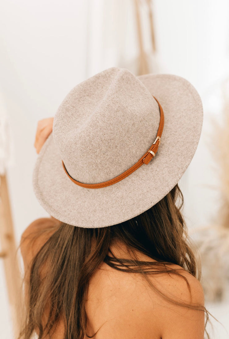 Down The Lane Wool Hat (Dark Ivory)