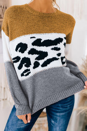 LEAN ON ME COLOR BLOCK SWEATER