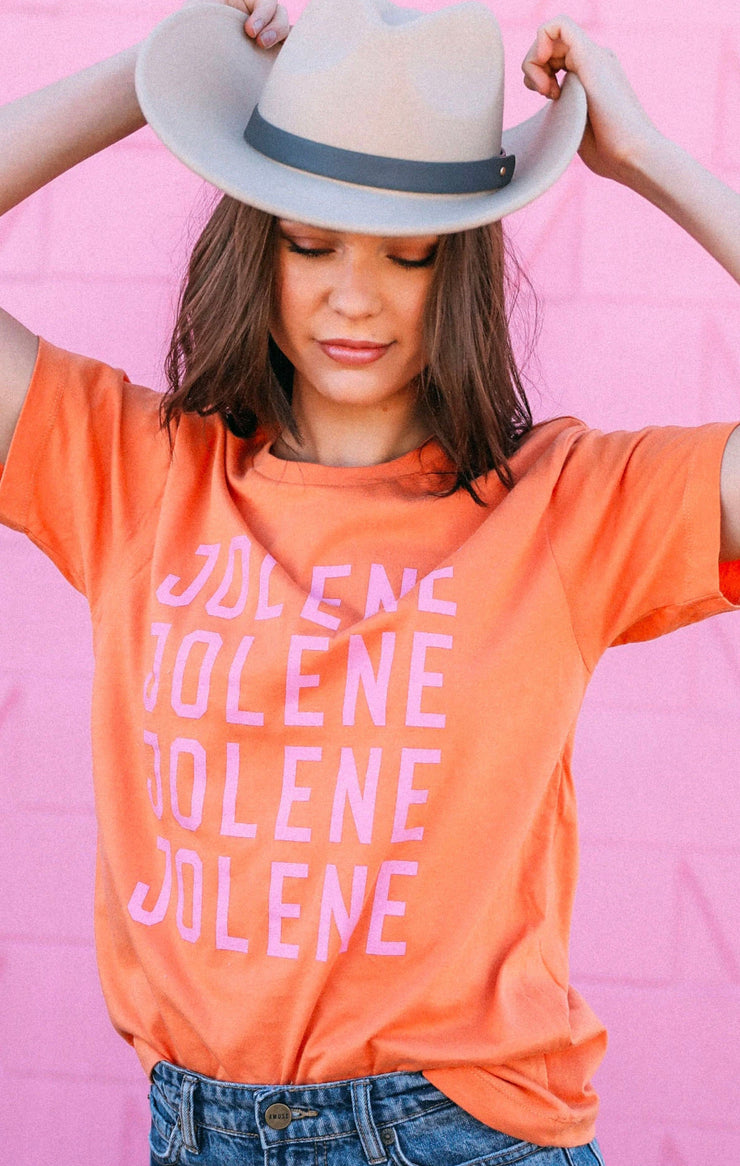 Jolene Graphic Tee (Heather Orange)