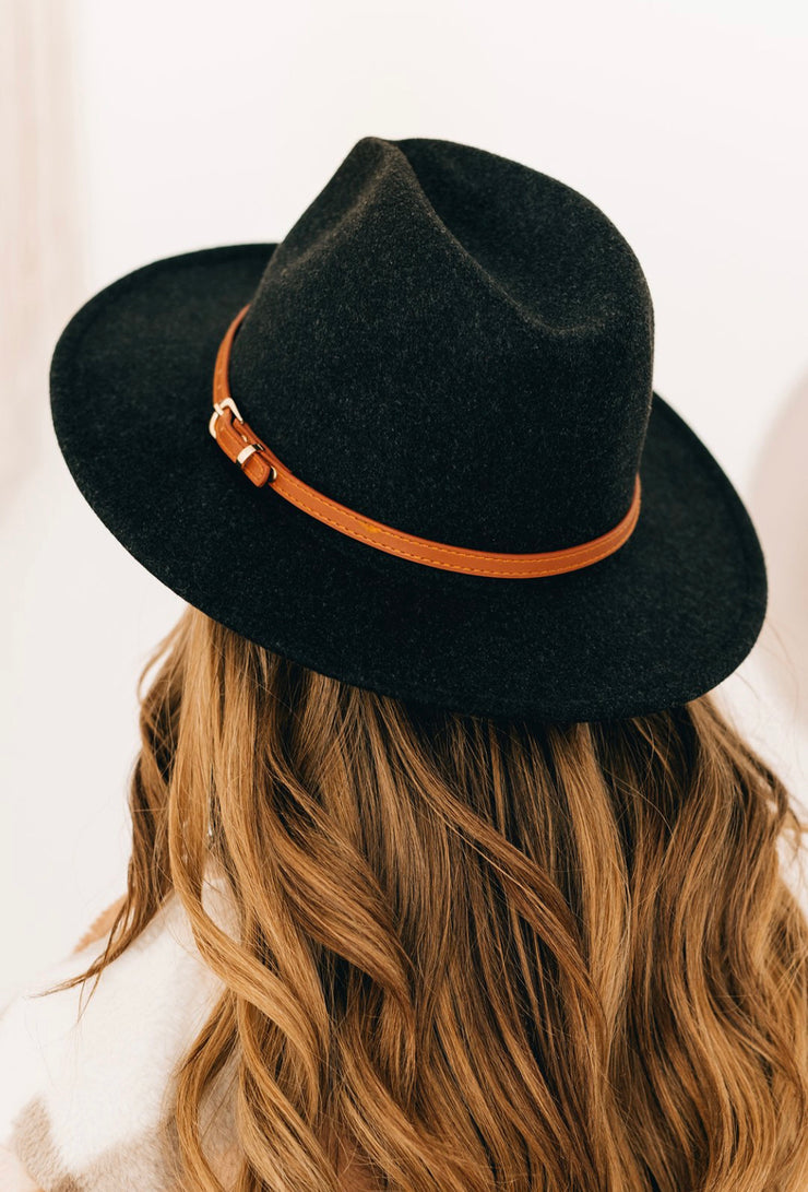 Down The Lane Wool Hat (Black)