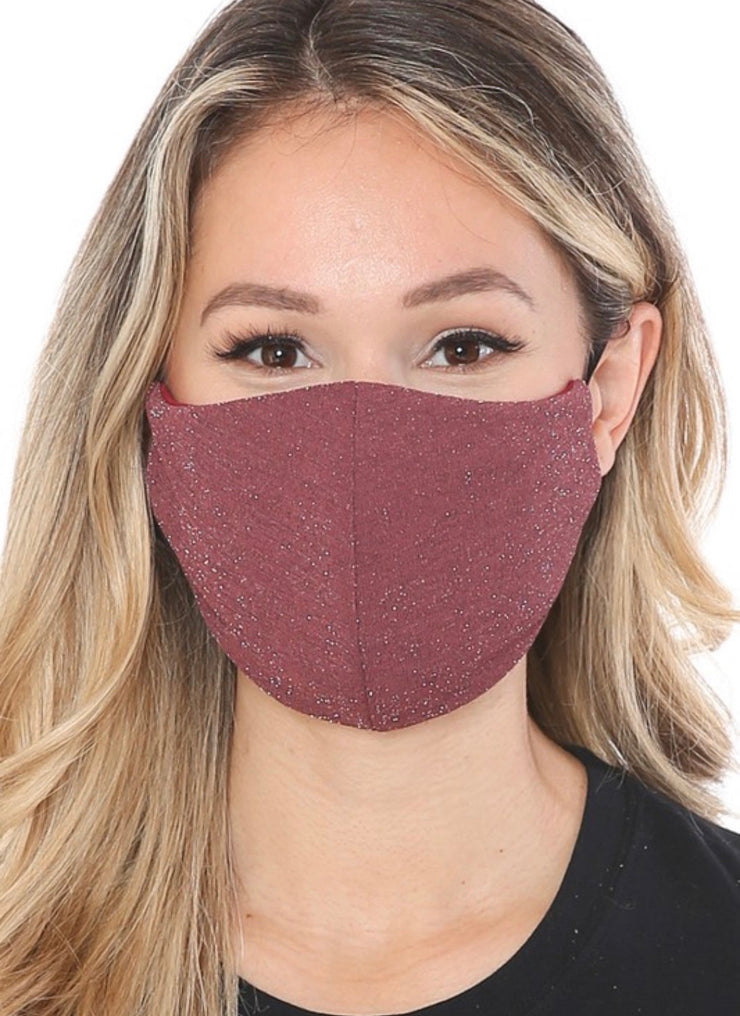 Sparkle Face Mask (Mauve)