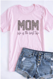Mom Life Is The Best Life Graphic Tee (Pink)