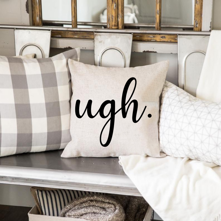 Ugh Pillow Cover (Off White)