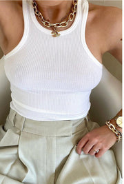 Keepsake Crop Top (White)