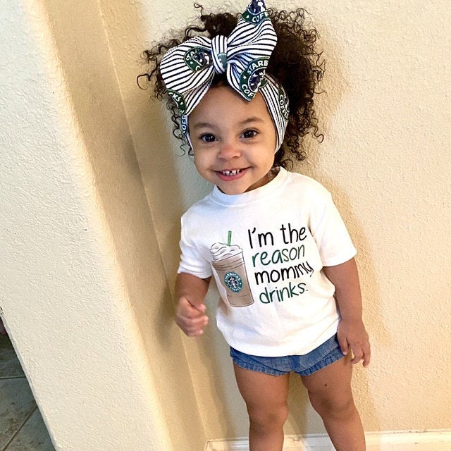 I'm the reason mommy drinks  graphic tee (TODDLER SIZE)