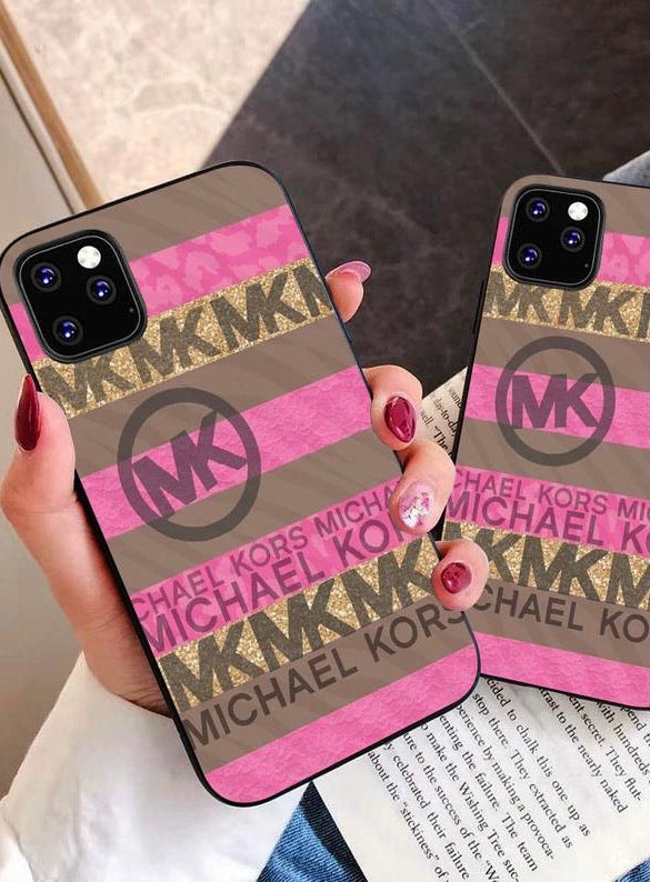 MK Pink Leopard iPhone Case