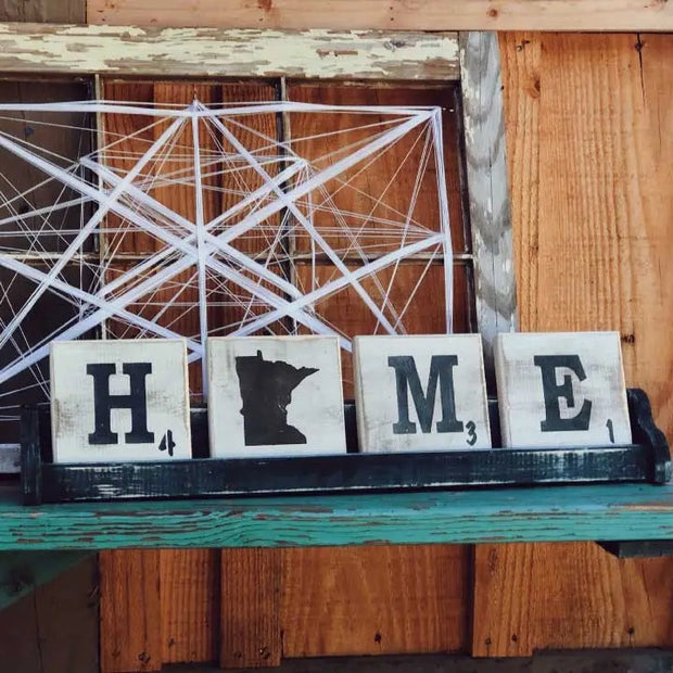 Letter Tile Home Tray