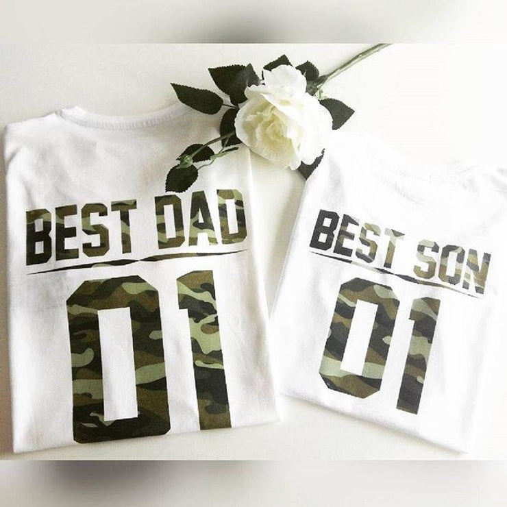 Best Dad-Best Son Graphic Tees (Camo)