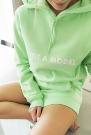 Not A Model Hoodie (Mint Green)