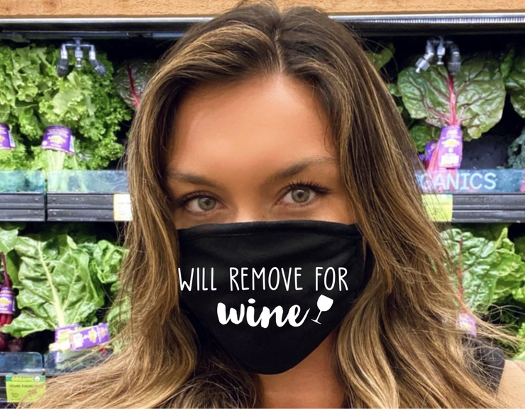 Will Remove For Wine Face Mask(Black)
