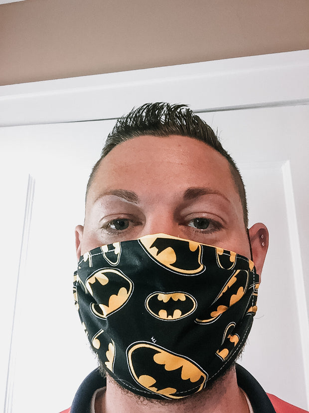 Batman Face Mask (Yellow/Black)