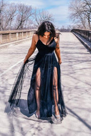 I Make The Rules Lace Maxi Dress (Black)