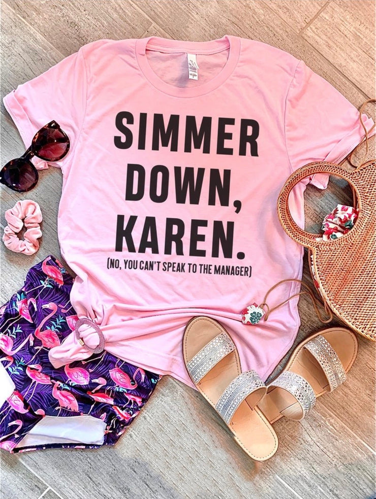 Karen Graphic Tee (Pink)