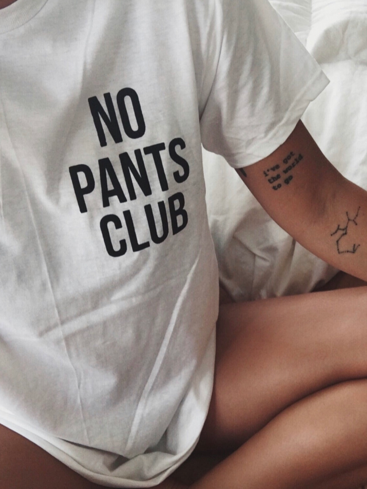 No Pants Club Graphic Tee